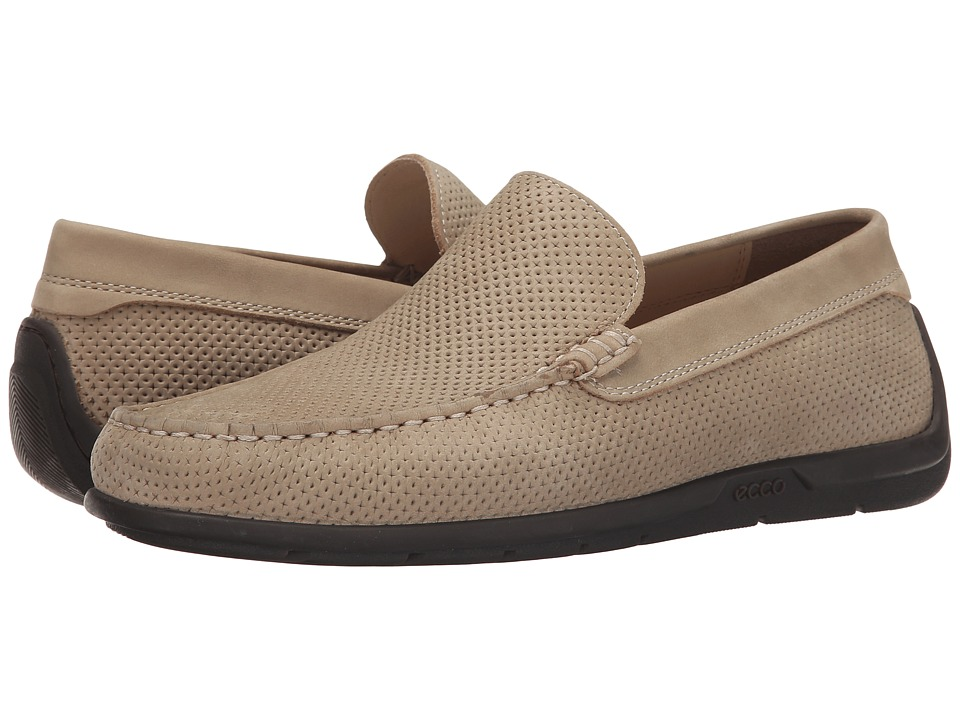 ECCO - Classic Moc 2.0 Drive (Beige) Men's Slip on Shoes