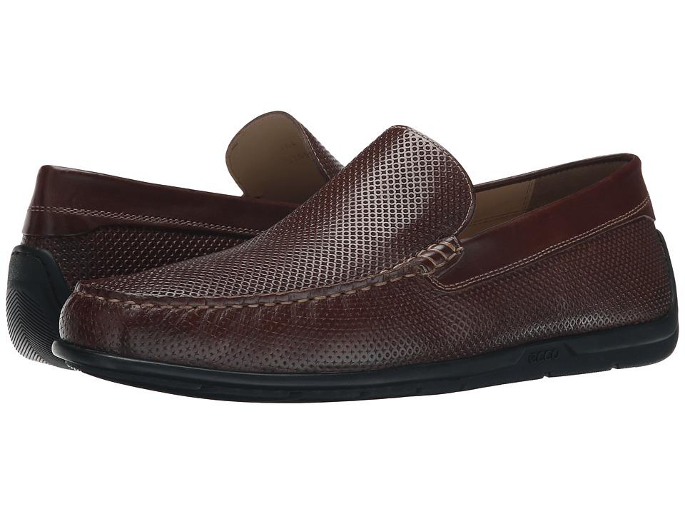 ECCO - Classic Moc 2.0 Drive (Mink) Men's Slip on Shoes