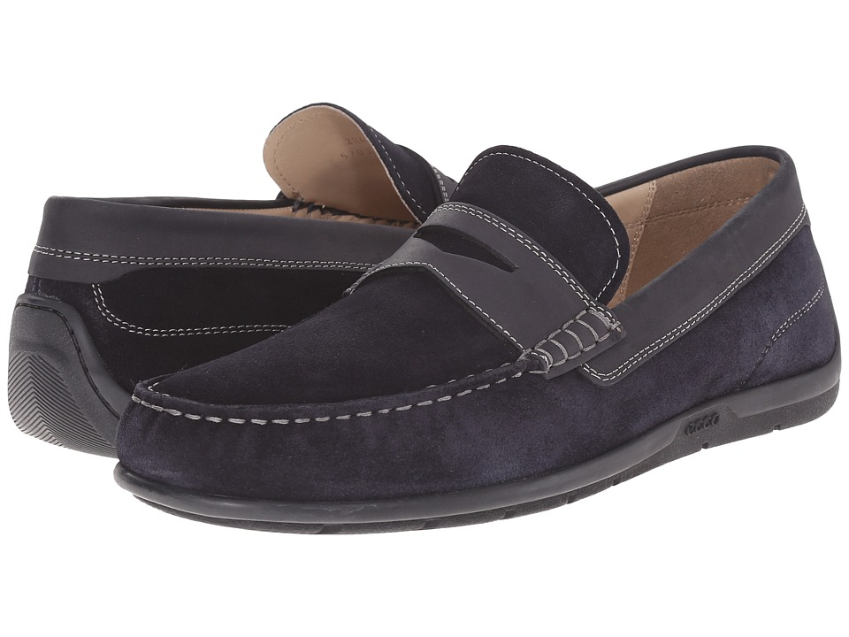 ECCO - Classic Moc 2.0 Loafer (Marine/Marine) Men's Slip on Shoes