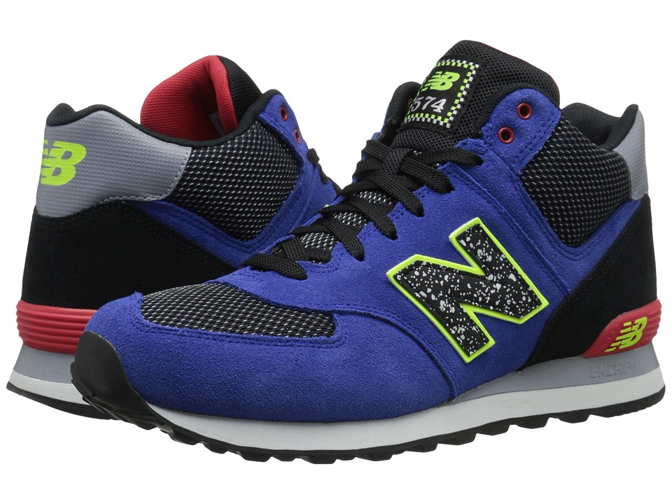 New Balance - M574 (Blue/Red Suede/Mesh) Men