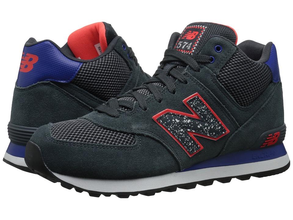 New Balance Classics - M574 (Grey/Blue Suede/Mesh) Men's Classic Shoes