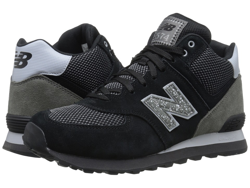 New Balance - M574 (Black/Grey Suede/Mesh) Men's Classic Shoes