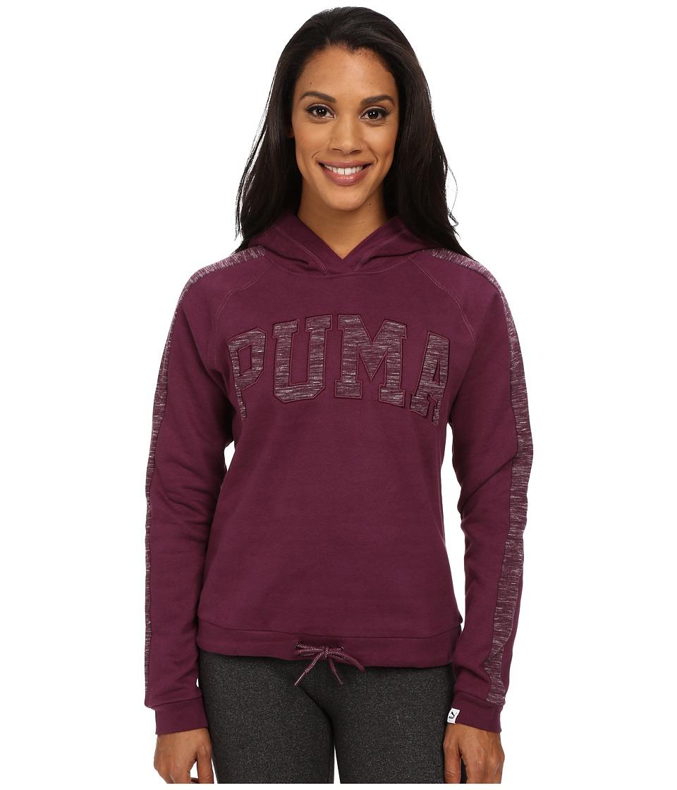 PUMA - Varsity Hoodie (Italian Plum) Women's Sweatshirt