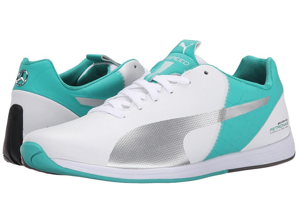 PUMA - MAMGP evoSPEED 1.4 (White/Puma Silver/Spectra Green) Men's Shoes