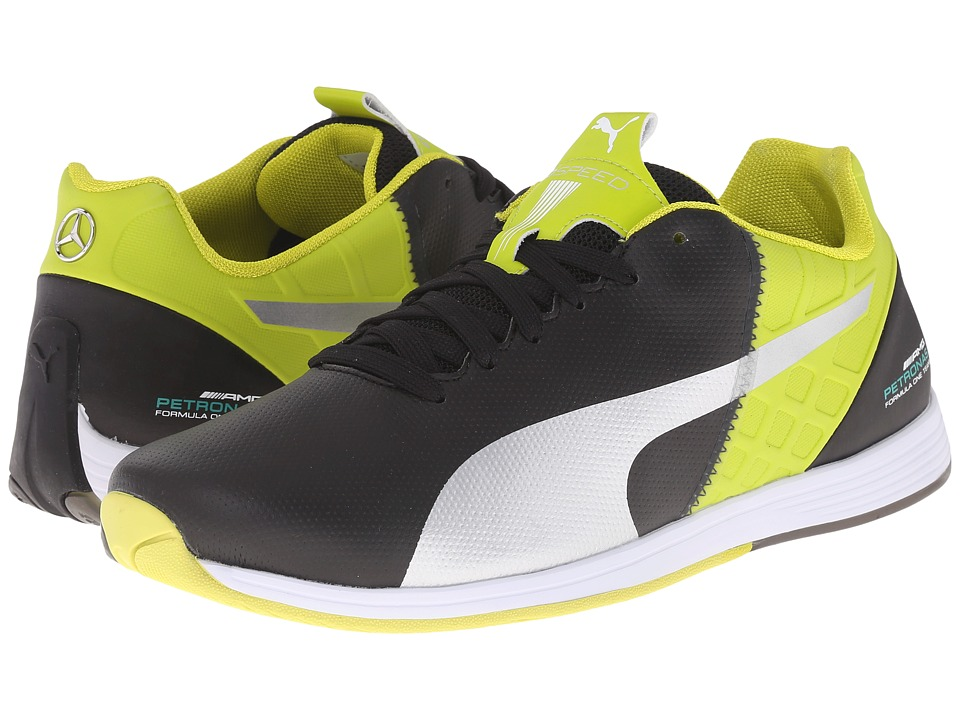PUMA - MAMGP evoSPEED 1.4 (Black/Puma Silver/Sulphur Spring) Men's Shoes