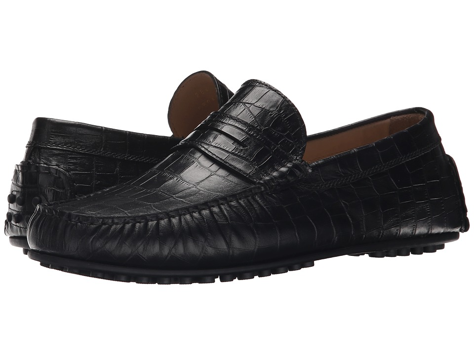 ECCO - Hybrid Moc Drive (Black) Men's Slip on Shoes