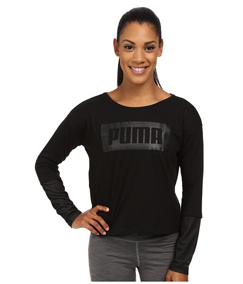 PUMA - Long Sleeve Top (Black 1) Women's Clothing