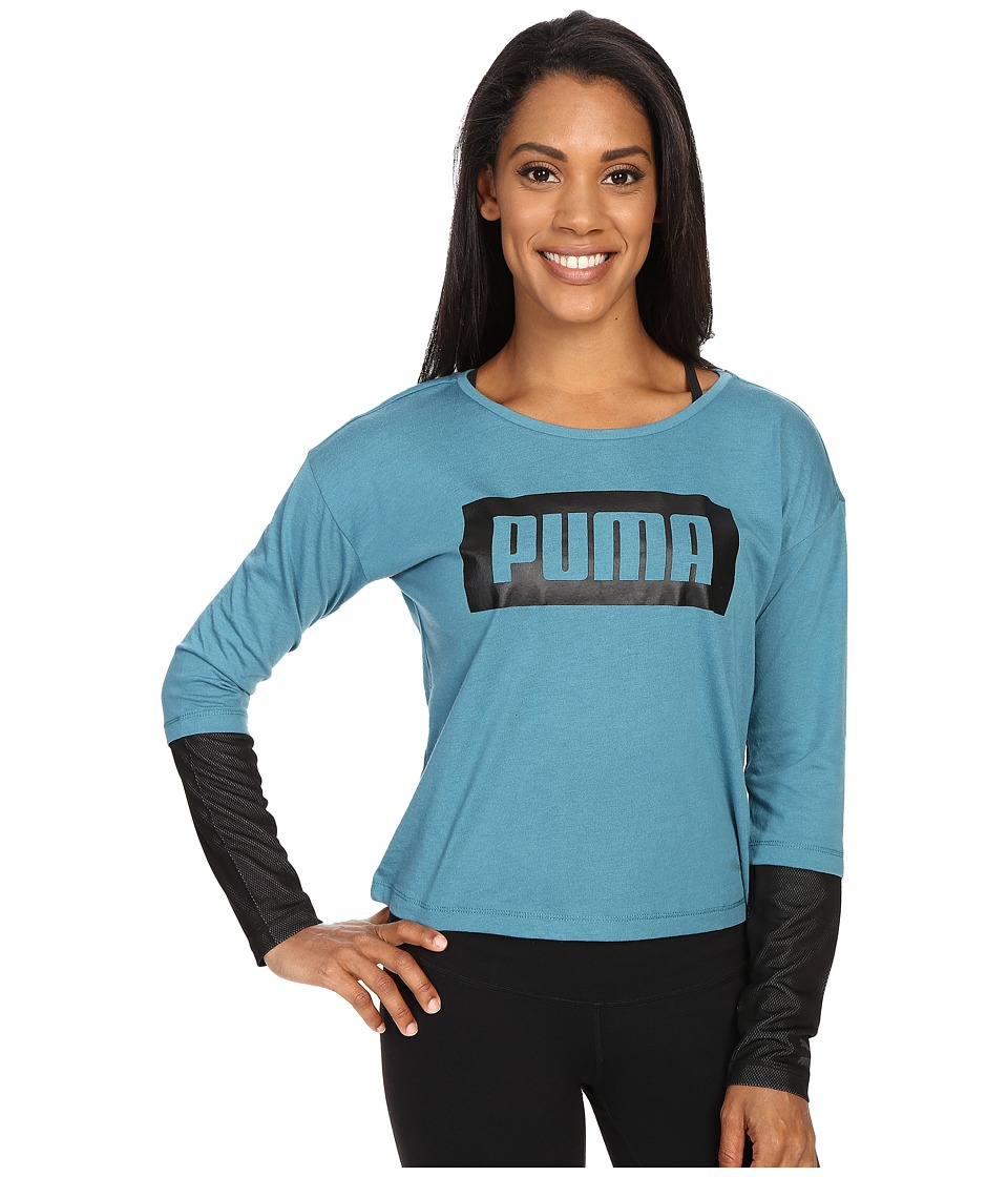 PUMA - Long Sleeve Top (Colonial Blue) Women