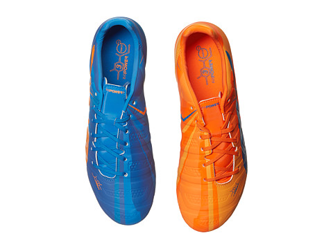PUMA - evoPOWER 3 H2H FG (Orange Clown Fish/Electric Blue Lemonade) Men's Shoes