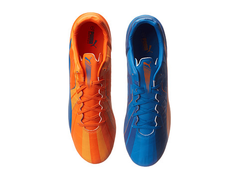 PUMA - evoSPEED 4 H2H FG (Orange Clown Fish/Electric Blue Lemonade) Men's Shoes