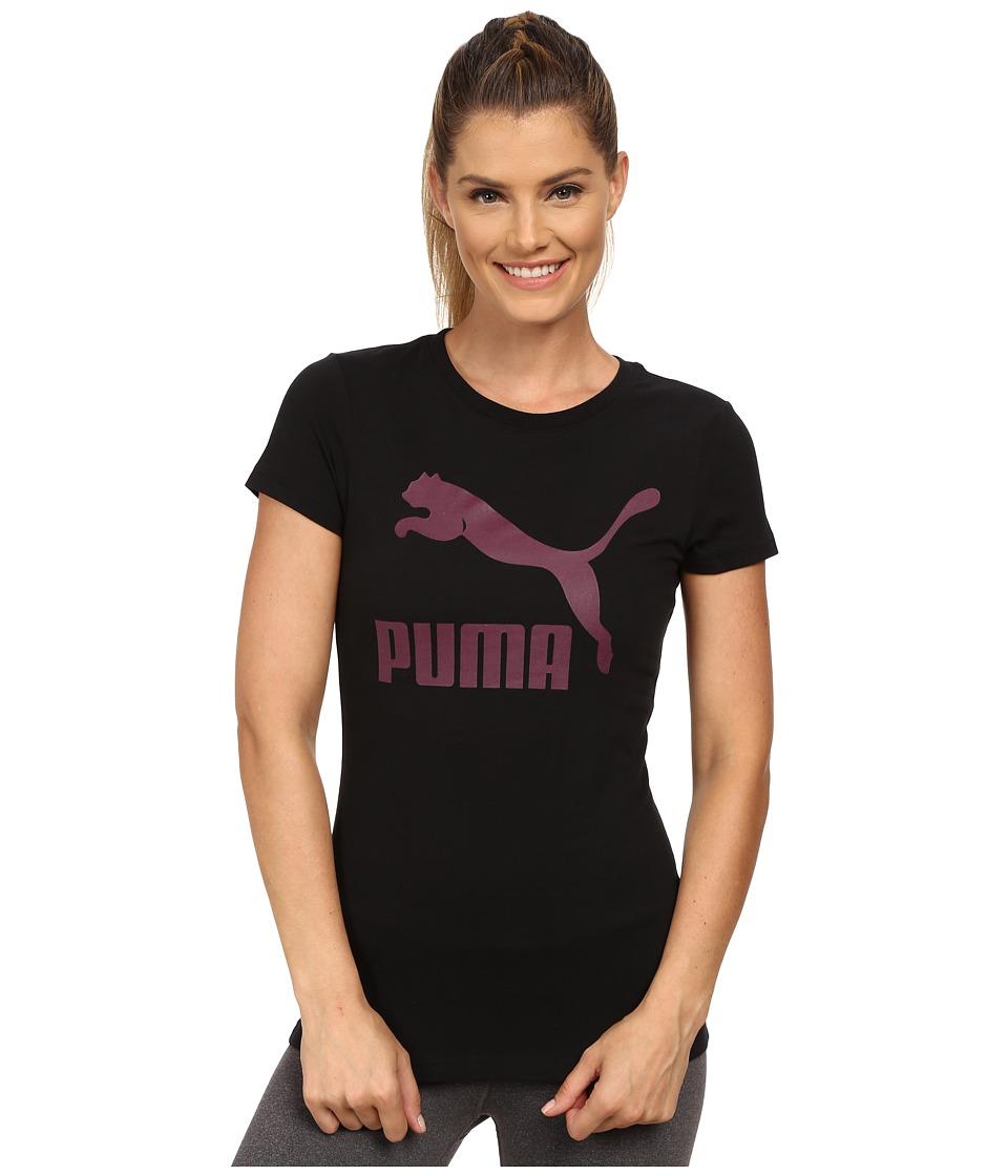 PUMA - Archive Logo Tee (Black/Italian Plum) Women