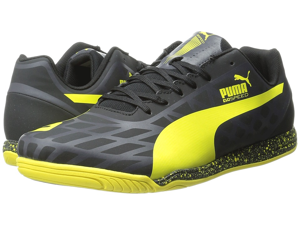 PUMA - evoSPEED Star IV (Black/Blazing Yellow/Periscope) Men