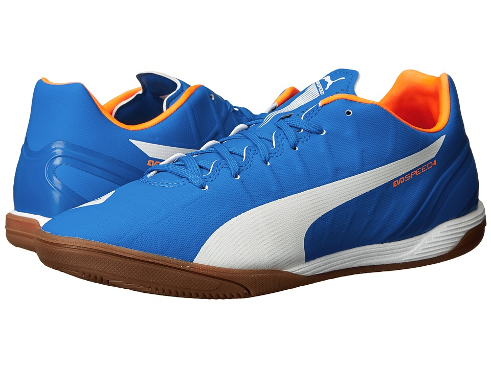 PUMA - evoSPEED 4.4 IT (Electric Blue Lemonade/White/Orange Clown Fish) Men