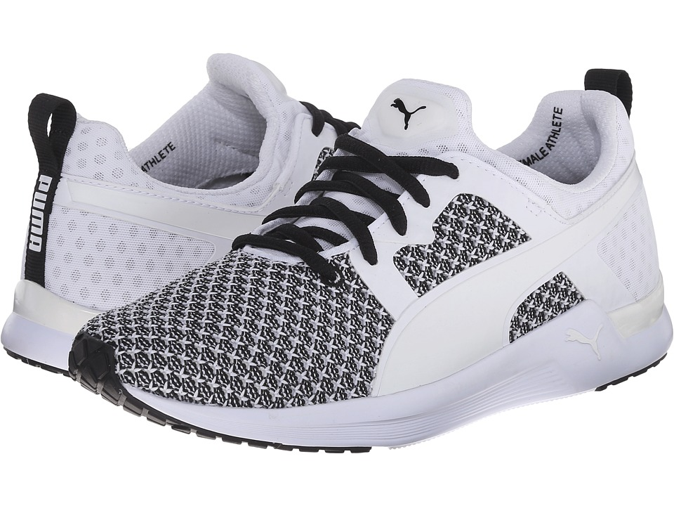 PUMA - Pulse XT Knit (White/Black) Women's Shoes