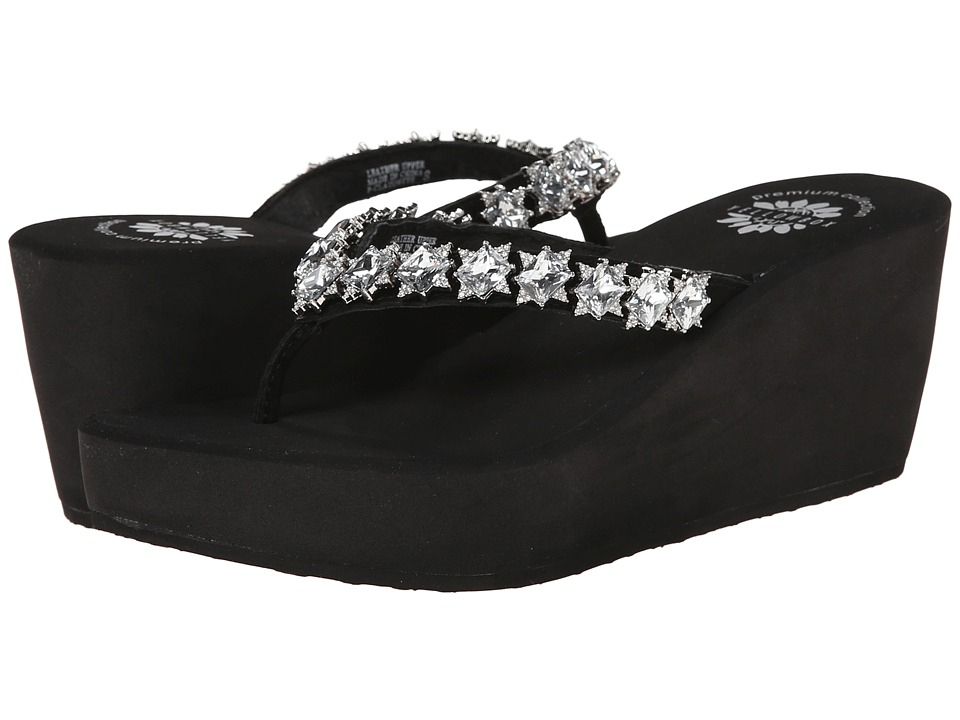 Yellow Box - Claudette (Black) Women's Sandals