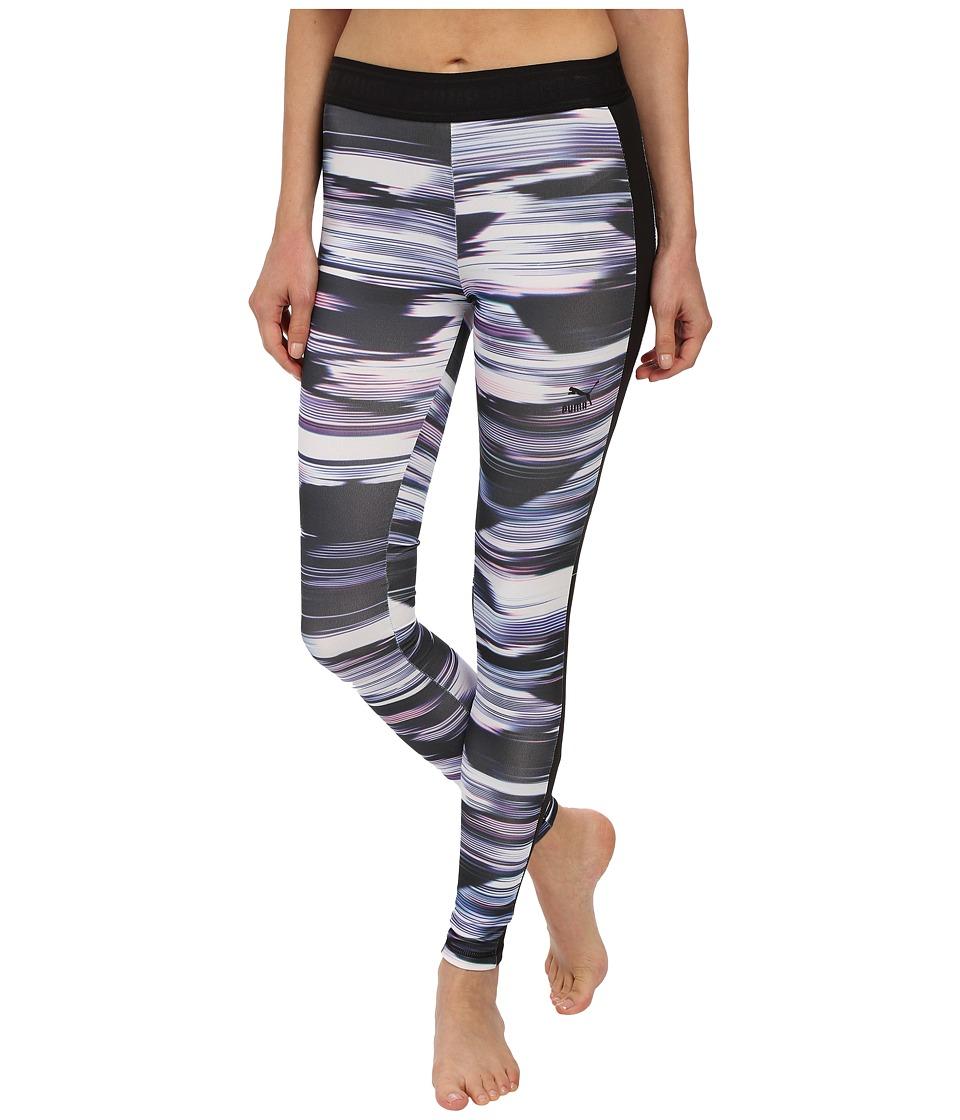 PUMA - Blurred Leggings (Black) Women's Clothing