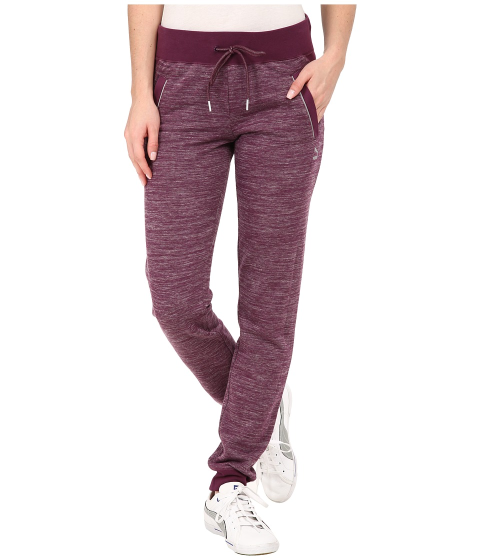 PUMA - Space Dye Pants (Italian Plum) Women's Casual Pants
