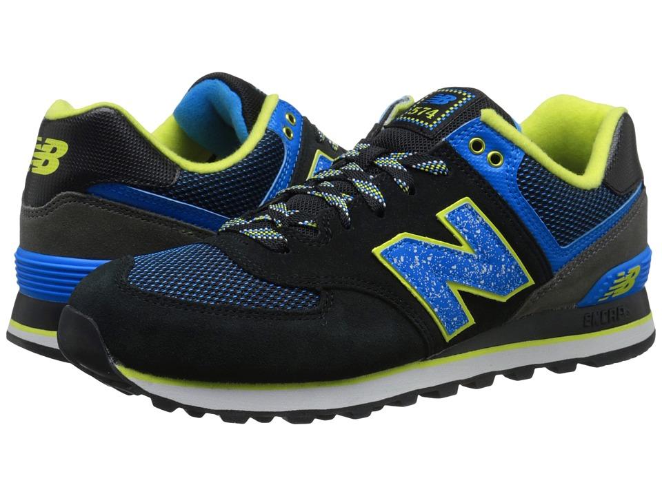 New Balance Classics - M574 (Black/Teal Suede/Mesh) Men's Classic Shoes
