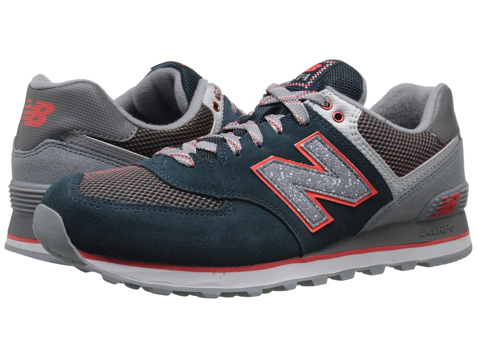 New Balance Classics - M574 (Deep Water/Cool Grey Suede/Mesh) Men's Classic Shoes