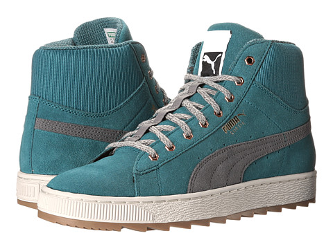 PUMA - The Suede Winterized Rugged (Colonial Blue/Steel Gray) Women