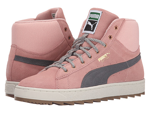 PUMA - The Suede Winterized Rugged (Coral Cloud Pink/Steel Gray) Women