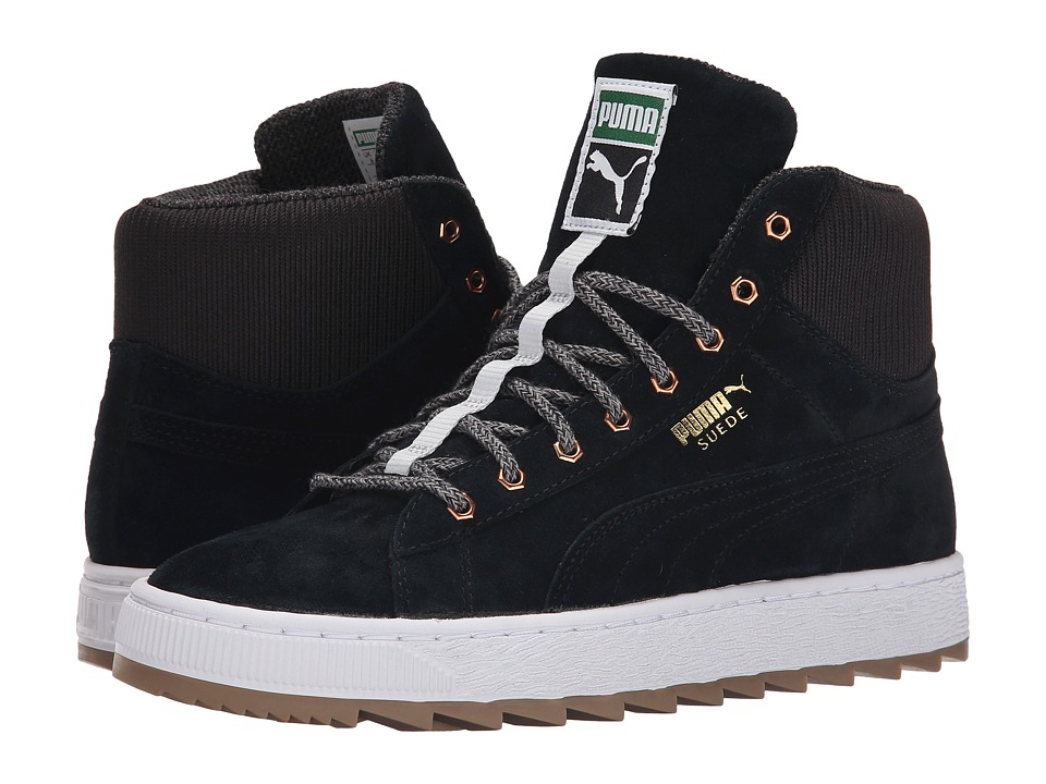 PUMA - The Suede Winterized Rugged (Black/Black) Women's Shoes