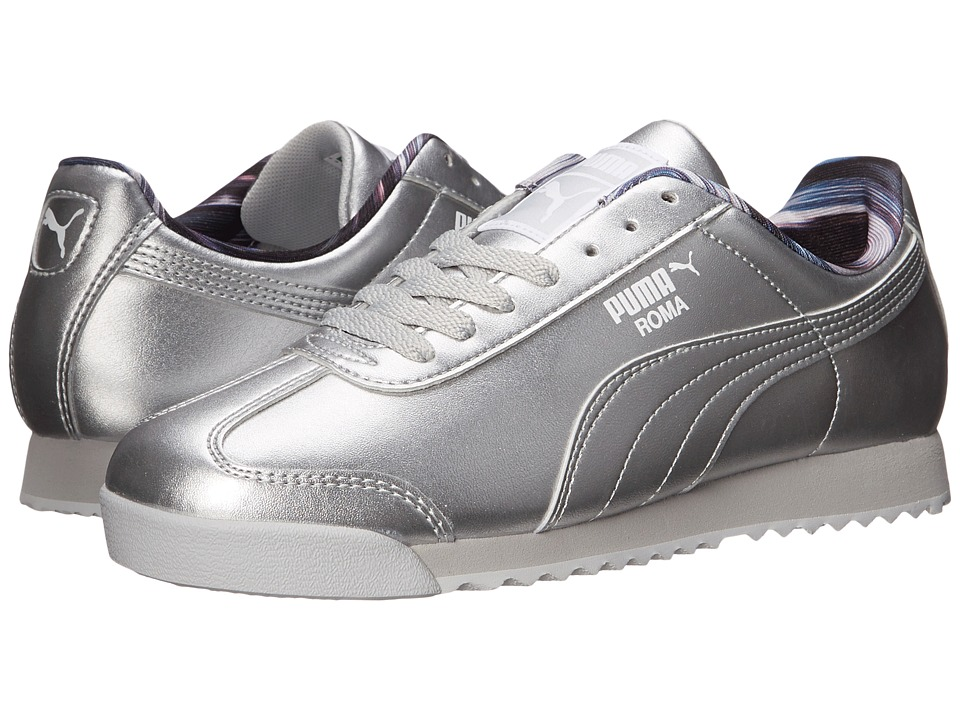 PUMA - Roma Metallic (Puma SIlver/Glacier Gray) Women's Shoes