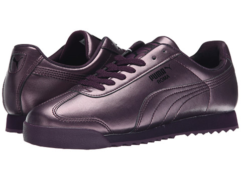 PUMA - Roma Metallic (Plum/Italian Plum) Women's Shoes