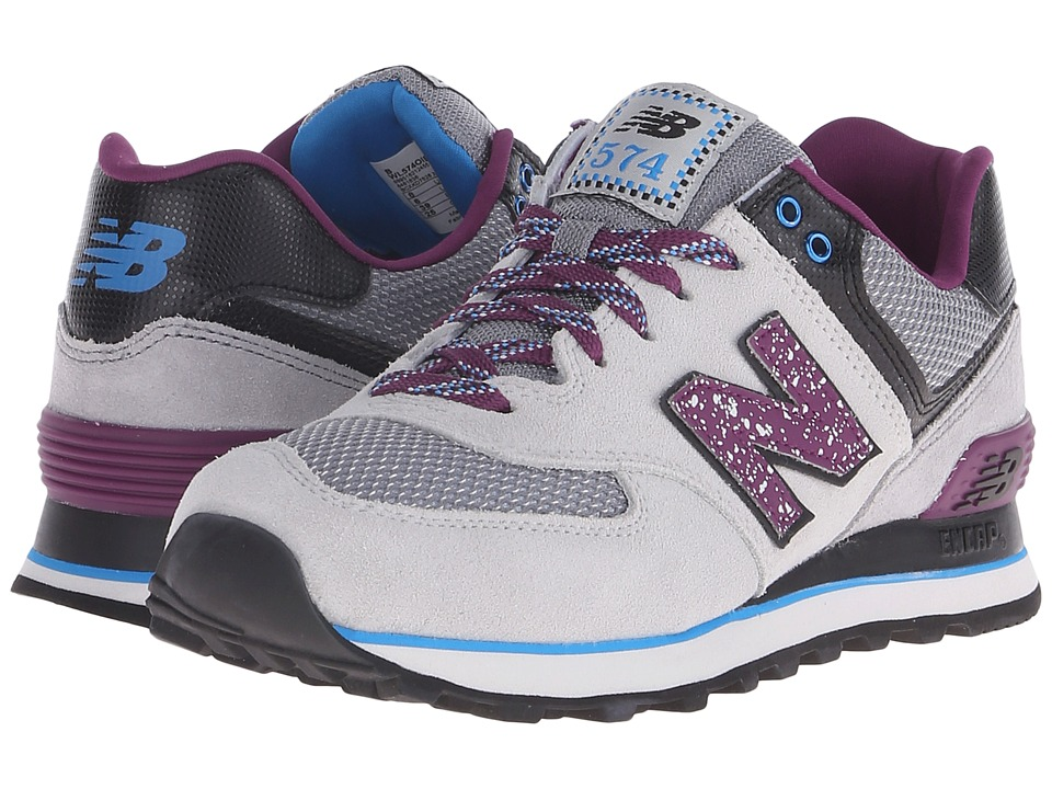 New Balance Classics - WL574 (Grey/Purple Suede/Mesh) Women's Lace up casual Shoes