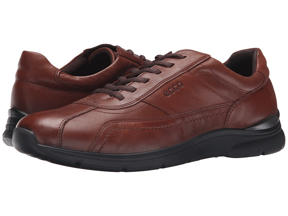 ECCO - Irving Tie (Mahogany) Men's Lace up casual Shoes