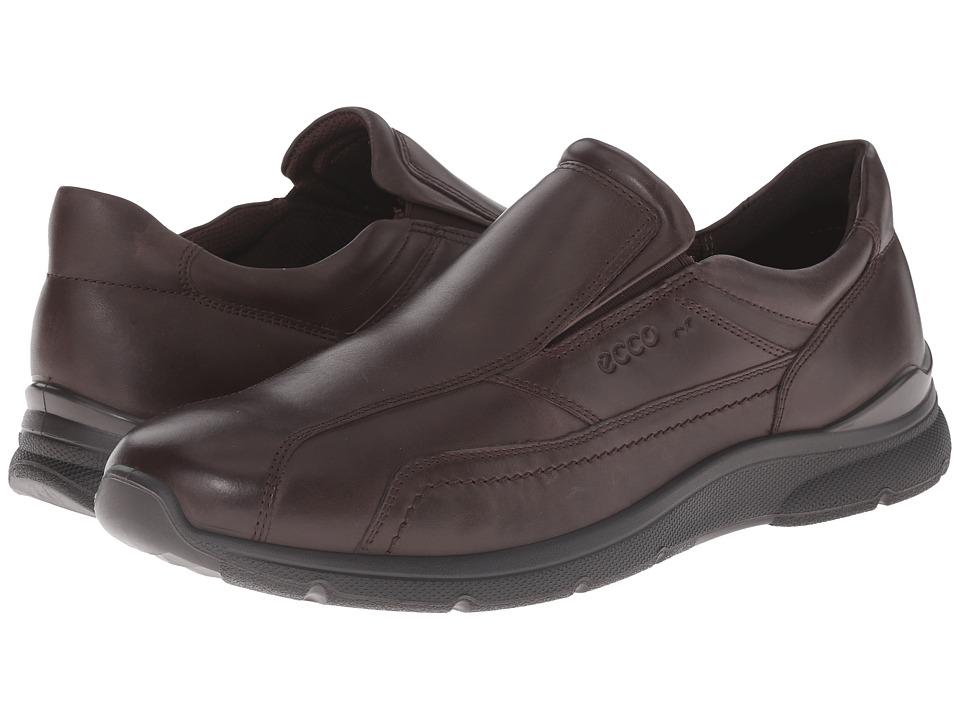 ECCO - Irving Slip-On (Coffee) Men's Slip on Shoes
