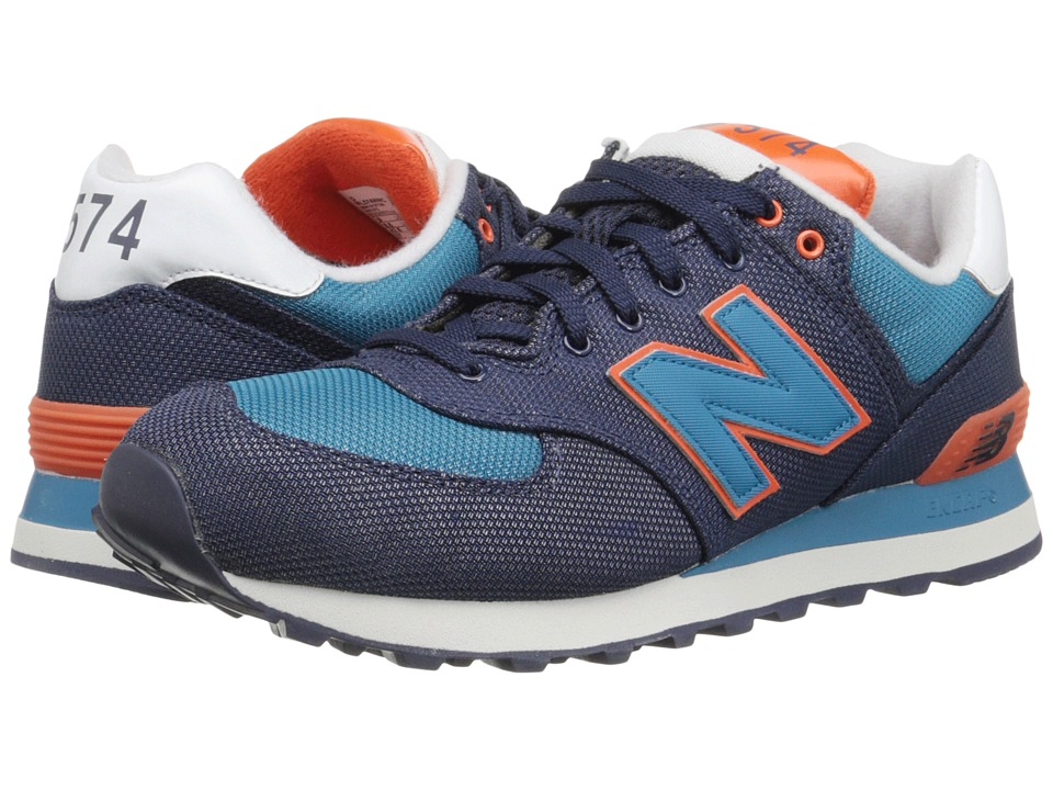 New Balance Classics - ML574 (Pigment/Orange Textile) Men's Shoes