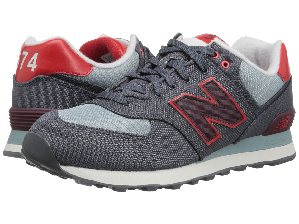 New Balance - ML574 (Grey/Red Textile) Men's Shoes