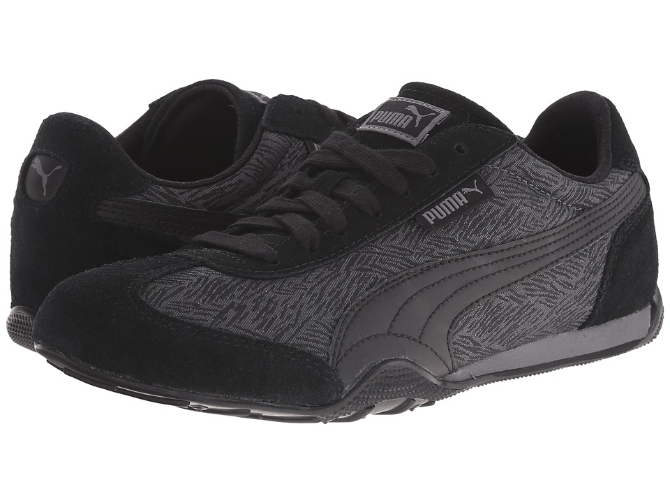 PUMA - 76 Runner Scratched (Steel Gray/Black) Women's Shoes