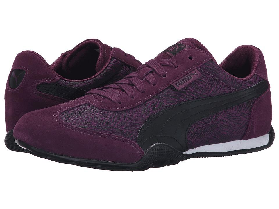 PUMA - 76 Runner Scratched (Italian Plum/Black) Women's Shoes