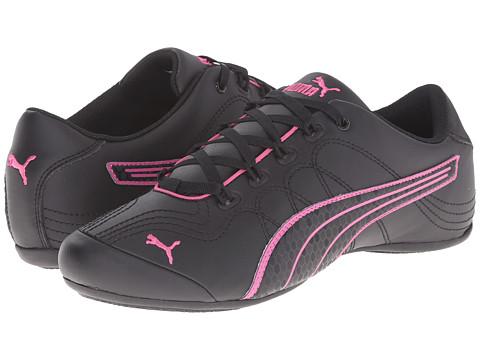 PUMA - Soleil v2 Comfort Fun (Black/Carmine Rose) Women's Shoes