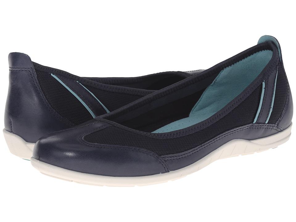 ECCO - Bluma Summer Ballerina (Marine/Marine/Aquatic) Women's Shoes