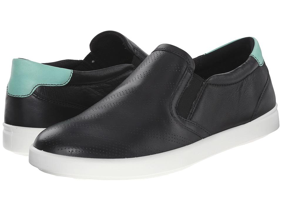 ECCO - Aimee Sport Slip-On (Black/Granite Green) Women's Slip on Shoes