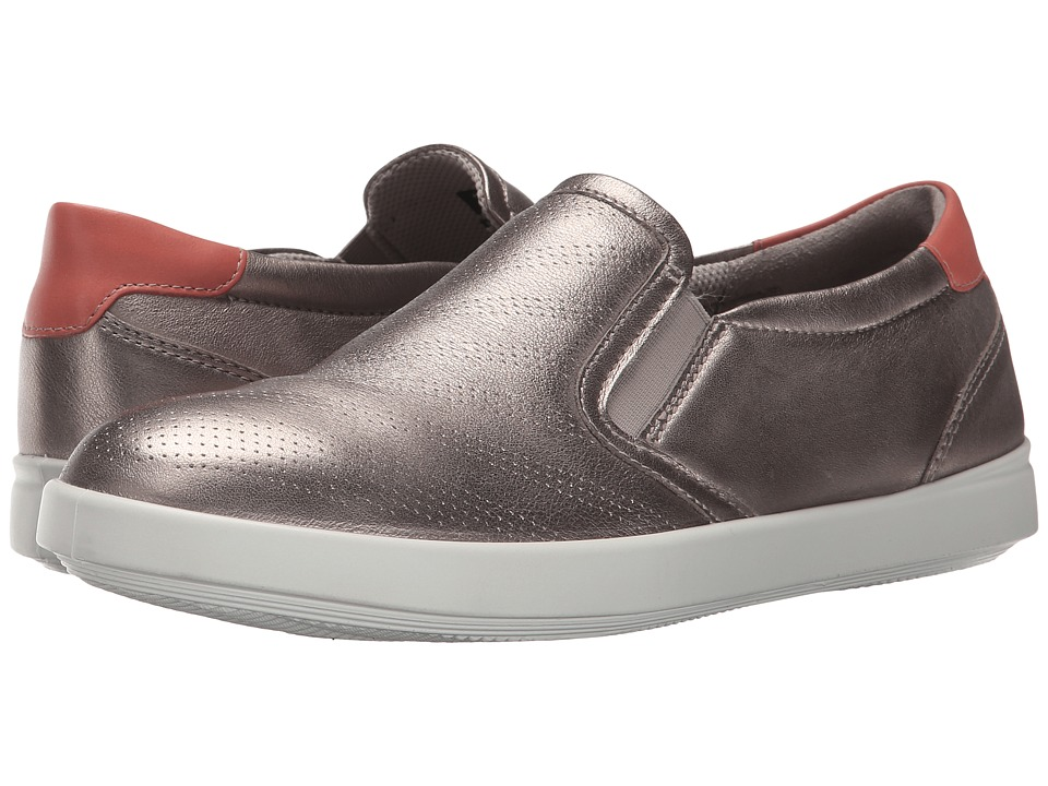 ECCO - Aimee Sport Slip-On (Moon Rock Metallic/Coral Blush) Women's Slip on Shoes