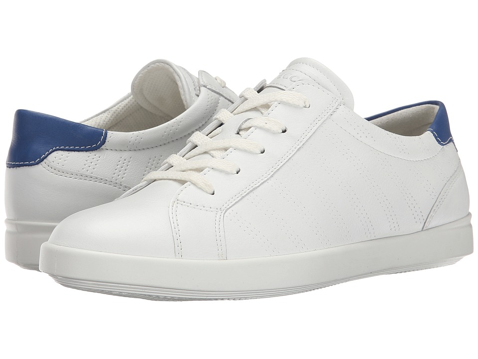 ECCO - Aimee Sport Tie (White/Mazarine Blue) Women's Lace up casual Shoes