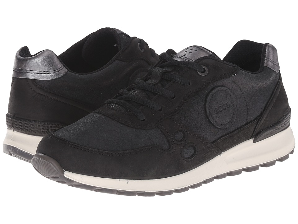 ECCO - CS14 Casual Sneaker (Black/Black/Black/Dark Shale Metallic) Women