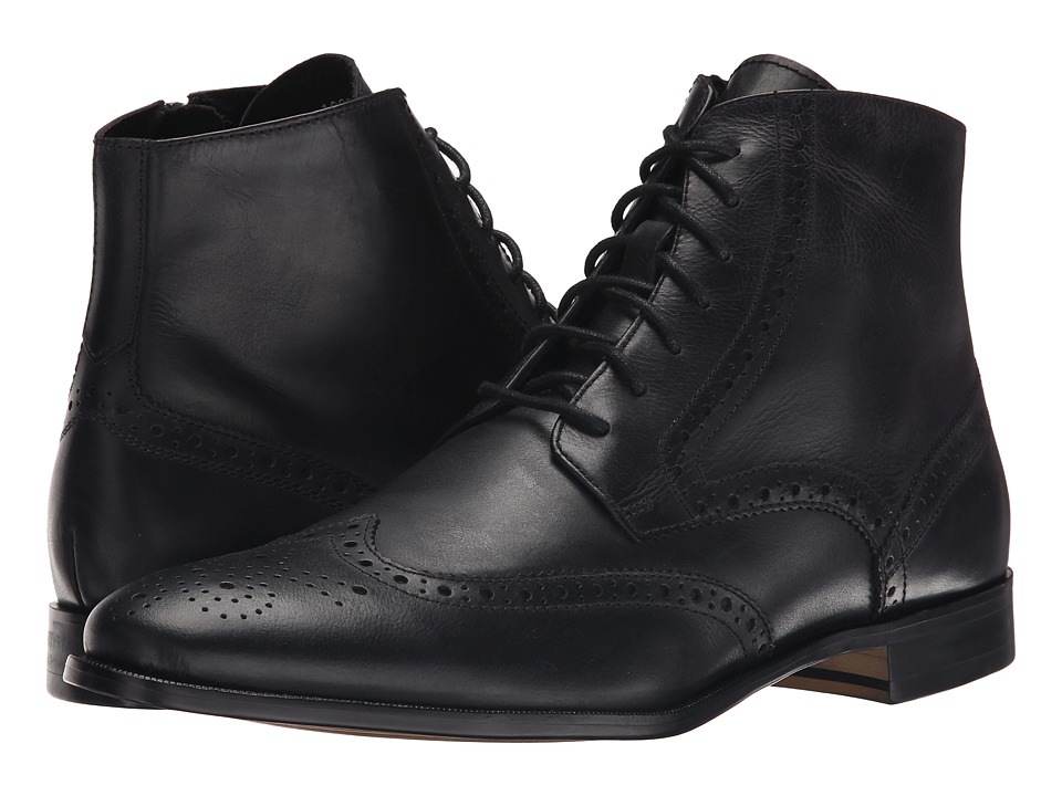 RUSH by Gordon Rush - Marcus (Black Leather) Men's Dress Lace-up Boots