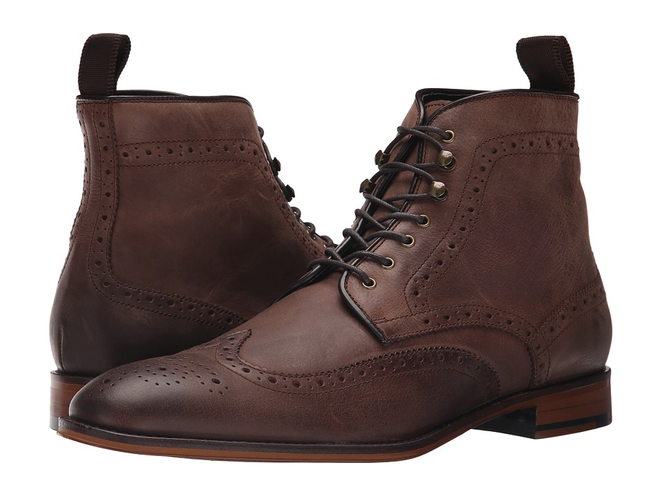RUSH by Gordon Rush - Kennedy (Dark Brown Leather) Men's Lace-up Boots