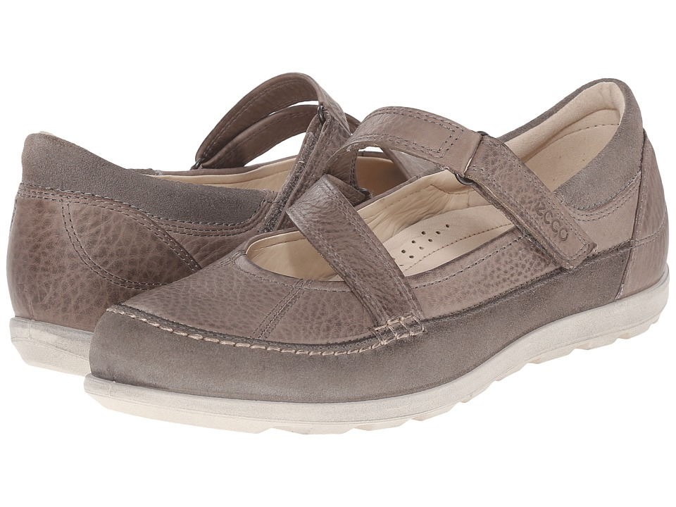 ECCO - Cayla Mary Jane (Warm Grey/Moon Rock) Women's Slip on Shoes