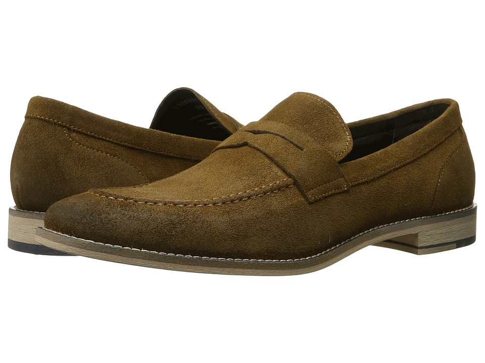 RUSH by Gordon Rush - Clark (Tan Suede) Men's Slip on Shoes