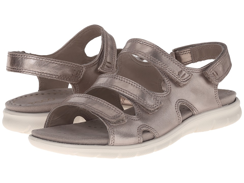 ECCO - Babette Sandal 3-Strap (Moon Rock) Women's Shoes