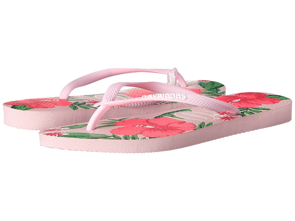 Havaianas - Slim Floral Flip Flop (Light Pink) Women