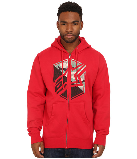 Alpinestars - Disruption Zip Fleece (Red) Men's Sweatshirt