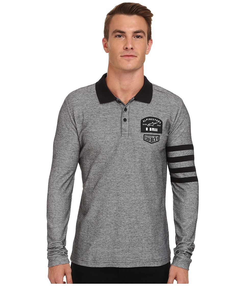 Alpinestars - Everest Long Sleeve Polo (Heather Grey) Men's Long Sleeve Pullover