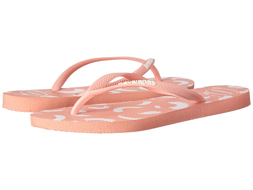 Havaianas - Slim Swirl Flip Flops (Light Pink) Women's Sandals